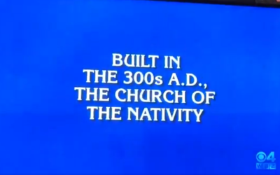 A question on US game show Jeopardy, in a program broadcast on January 10, 2020. (Screenshot: Twitter)