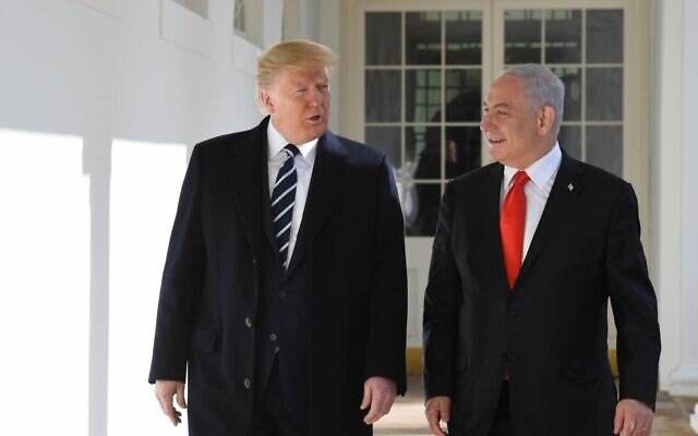 US President Trump hosts Prime Minister Benjamin Netanyahu at the White House,  January 27, 2020. (Kobi Gideon/GPO)