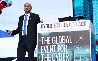Head of Israel's National Cyber Directorate Yigal Unna at the Cybertech 2020 conference in Tel Aviv; Jan. 29; (Cybertech)