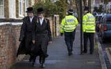Illustrative: Ultra-Orthodox Jews in the Stamford Hill area of London, January 17, 2015. (Rob Stothard/ Getty Images via JTA/ File)