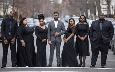 The members of the Reginald Golden Singers, who will be in Israel for the First Gospel Festival in February 2020. (Courtesy Reginald Golden Singers)