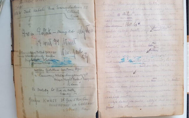 Original manuscript of 'Last Stop Auschwitz,' written by Eddy de Wind at Auschwitz (courtesy: Melcher de Wind)