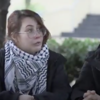 George Washington University senior Becca Lewis in a video by progressive US group NowThis published January 2020. (NowThis/Twitter via JTA)