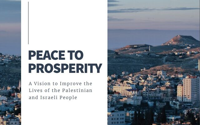 The cover of the White House's Peace to Prosperity plan