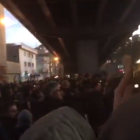 Iranian anti-regime protesters in Tehran on January 11, 2020 (video screenshot)