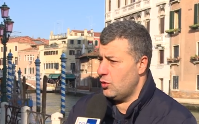 Arturo Scotto speaks to Italian media about his attack by far-right extremists, December 2019 (video screenshot)