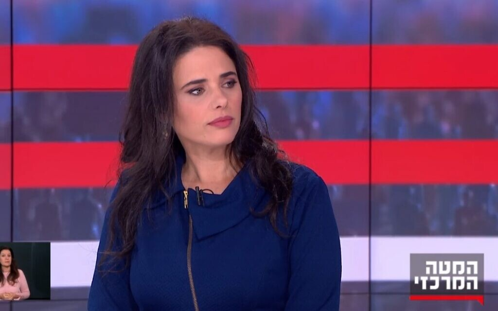 There won't be a unity government after March elections, Shaked says