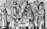 Woodcut depicting 'Simon of Trent' alleged ritual murder, 1475 (public domain)