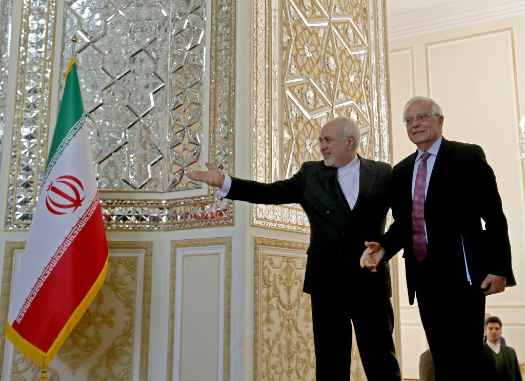 European Union top diplomat holds talks in Iran 'to de-escalate tensions'