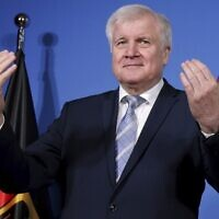 German Interior Minister Horst Seehofer in Berlin on February 14, 2020. (Michael Sohn / POOL / AFP)