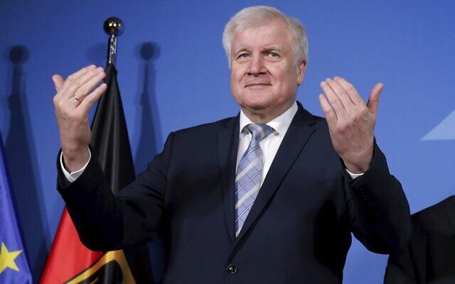 German Interior Minister Horst Seehofer in Berlin on February 14, 2020. (Michael Sohn / POOL / AFP)