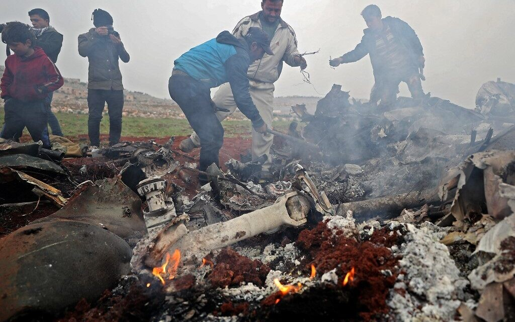 Syrian military chopper downed over rebel area, killing crew