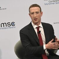 The founder and CEO of Facebook Mark Zuckerberg speaks during the 56th Munich Security Conference (MSC) in Munich, southern Germany, on February 15, 2020 (Christof STACHE / AFP)