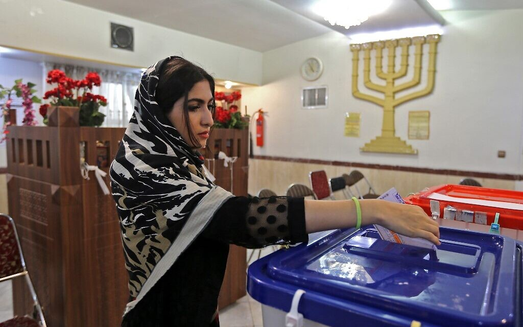 Iranian Jews cast votes in parliamentary elections