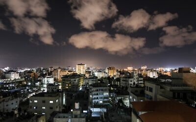A picture taken on February 24, 2020, shows a general view of Gaza city. (Mahmud Hams/AFP)