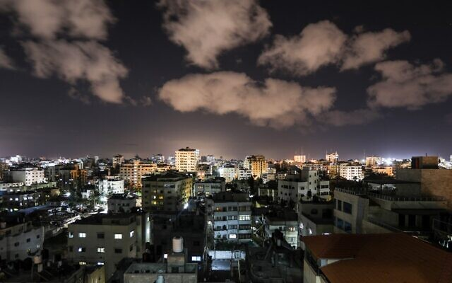 A picture taken on February 24, 2020, shows a general view of Gaza city. (MAHMUD HAMS / AFP)
