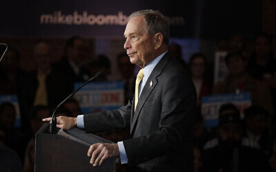 DETROIT, MI - FEBRUARY 04: Democratic presidential candidate Mike Bloomberg holds a campaign rally on February 4, 2020 in Detroit, Michigan. (Photo by Bill Pugliano/Getty Images)