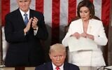 US House Speaker Rep. Nancy Pelosi rips up pages of the State of the Union speech after US President Donald Trump finishes his State of the Union address in the chamber of the US House of Representatives on February 4, 2020 in Washington, DC. (Mark Wilson/Getty Images/AFP)