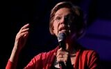 Democratic presidential candidate Senator Elizabeth Warren of Massachusetts speaks during a campaign event at Tupelo Music Hall on February 6, 2020, in Derry, New Hampshire. (Justin Sullivan/Getty Images/AFP)