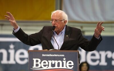 Democratic presidential candidate Sen. Bernie Sanders speaks during a campaign event the Franklin Pierce University on February 10, 2020 in Rindge, New Hampshire (Joe Raedle/Getty Images/AFP