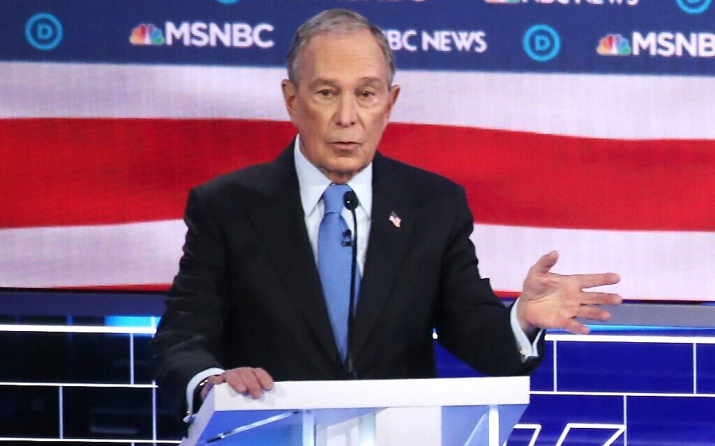 Democratic presidential candidate former New York City mayor Mike Bloomberg speaks during the Democratic presidential primary debate at Paris Las Vegas on February 19, 2020 in Las Vegas, Nevada (   Mario Tama/Getty Images/AFP)