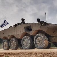 """The new """"Eitan"""" APC in a handout photo published Fenruary 9, 2020. (Defense Ministry)"""