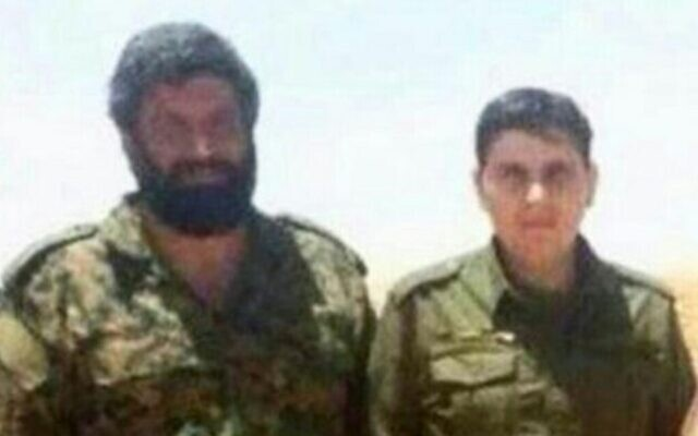 Asghar Pashapour, left, a top commander in Iran's Quds Force (Courtesy)