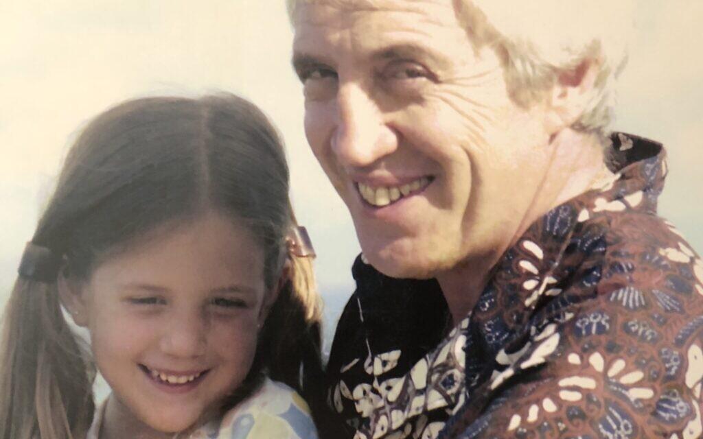 Ariana Neumann and her father Hans Neumann in the 1970s. (Courtesy of Ariana Neumann)