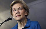 Democratic presidential candidate Sen. Elizabeth Warren, D-Mass., speaks to supporters at a primary election night rally, Feb. 11, 2020, in Manchester, N.H. (AP Photo/Elise Amendola)