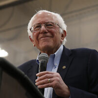 Democratic presidential candidate Sen. Bernie Sanders I-Vt., smiles during his campaign event in Carson City, Nevada on February 16, 2020. (AP/Rich Pedroncelli)