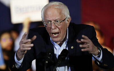 Democratic US presidential candidate Senator Bernie Sanders speaks during a campaign event in San Antonio, February 22, 2020. (AP Photo/Eric Gay)