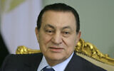 In this April 2, 2008 file photo, Egyptian President Hosni Mubarak looks on during a meeting at the Presidential palace in Cairo, Egypt (AP Photo/Amr Nabil)