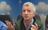 File: Ryanair Chief Executive, Michael O'Leary at the airline's Dublin headquarters in April 2016 (AP Photo/Shawn Pogatchnik)