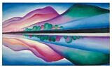 Illustrative: A painting by Georgia O'Keeffe, 'Lake George Reflection,' that can be viewed horizontally or vertically. It was inspired by O'Keeffe's visits to Alfred Stieglitz's family compound on the upstate New York lake. (Christie's/Copyright 2016 Georgia O'Keeffe Museum/Artists Rights Society (ARS), New York, via AP)