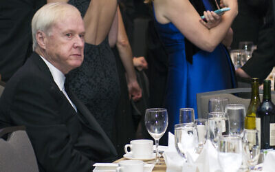 MSNBC's Chris Matthews sits at a table at the start of the White House Correspondents' Dinner in Washington, Saturday, April 29, 2017. (AP/Cliff Owen)