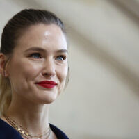 Model Bar Refaeli poses for photographers upon arrival at the Dior ready to wear Fall-Winter 2019-2020 collection, that was presented in Paris, February 26, 2019. (Thibault Camus/AP)