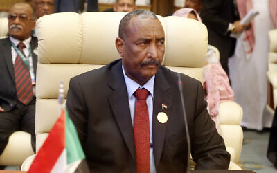 In this May 30, 2019 file photo, Abdel Fattah al-Burhan, the head of Sudan's ruling military council, attends an emergency summit of Gulf Arab leaders in Mecca, Saudi Arabia. (AP Photo/Amr Nabil, File)
