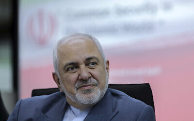 Iranian Foreign Minister Mohammad Javad Zarif attends a forum titled 'Common Security in the Islamic World' in Kuala Lumpur, Malaysia, August 29, 2019. (AP Photo/Vincent Thian, File)
