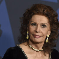 Sophia Loren arrives at the Governors Awards on Oct. 27, 2019, at the Dolby Ballroom in Los Angeles. (Jordan Strauss/Invision/AP)