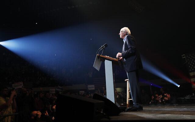 Democratic presidential candidate Sen. Bernie Sanders, I-Vt., speaks at a campaign rally Saturday, Feb. 1, 2020, in Cedar Rapids, Iowa. (AP/John Locher)