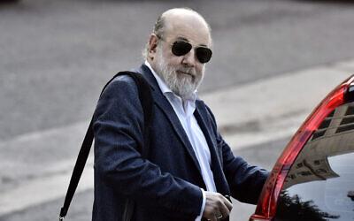 Argentine Federal Judge Claudio Bonadio arrives to court in Buenos Aires, Argentina, April 3, 2018. (Adrian Escandar/AP)