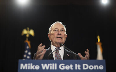 Democratic presidential candidate and former New York City Mayor Michael Bloomberg speaks at a campaign event on February 5, 2020, in Providence, R.I. (AP Photo/David Goldman)