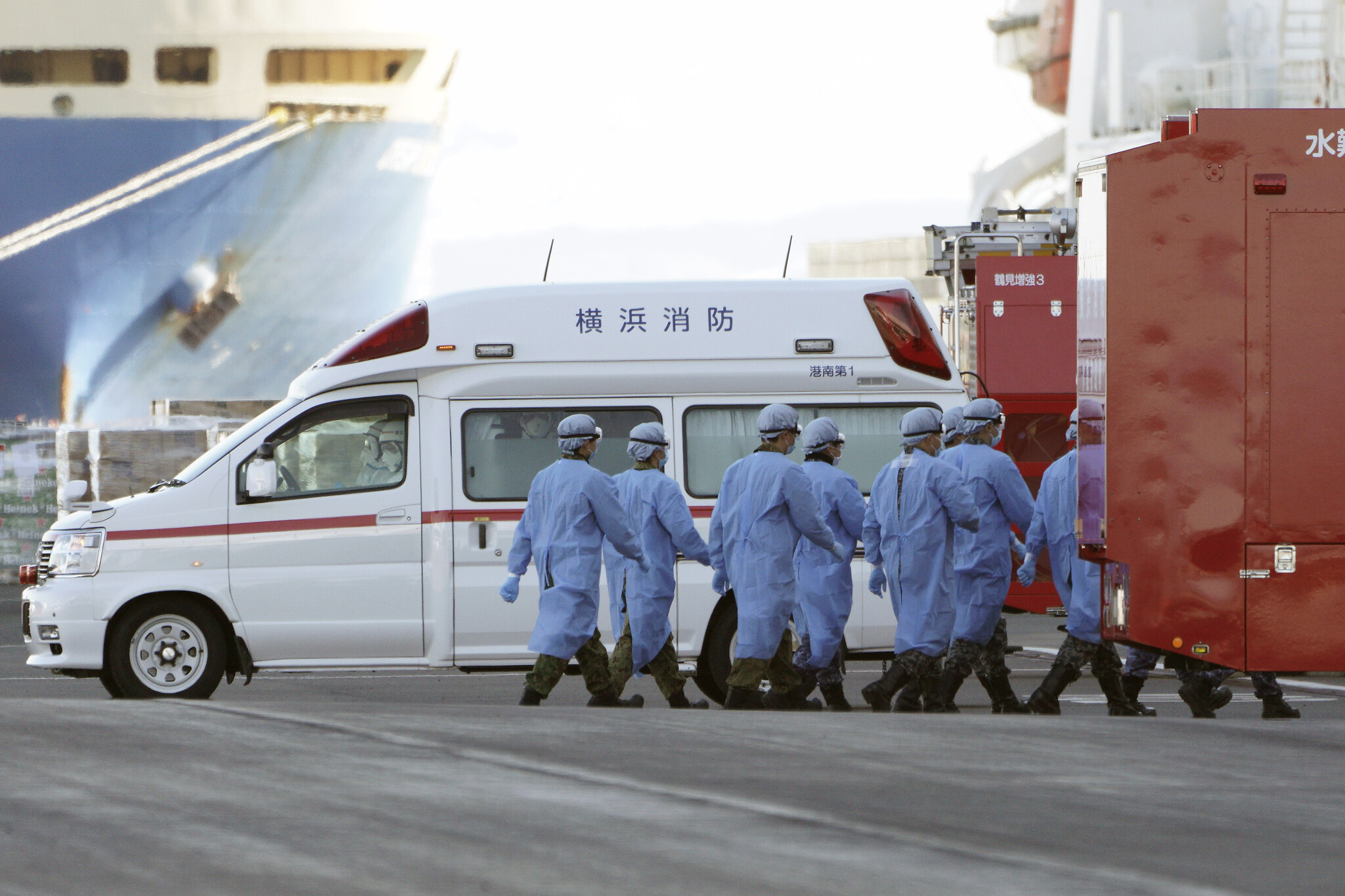Crew on quarantined Yokohama cruise liner beg to be allowed to leave