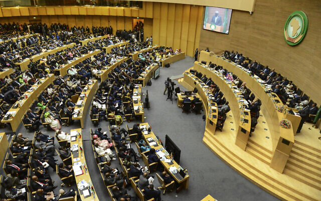 Delegates attend the opening session of the 33rd African Union (AU) Summit at the AU headquarters in Addis Ababa, Ethiopia, February 9, 2020. (AP Photo)