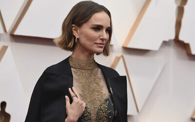 Natalie Portman at the Oscars on February 9, 2020, at the Dolby Theatre in Los Angeles. (Jordan Strauss/Invision/AP)