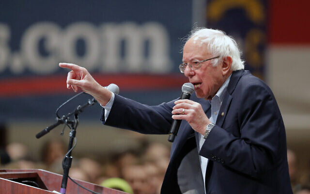 Democratic presidential candidate Bernie Sanders speaks at a campaign event in Durham, North Carolina, February 14, 2020. (AP Photo/Gerald Herbert)