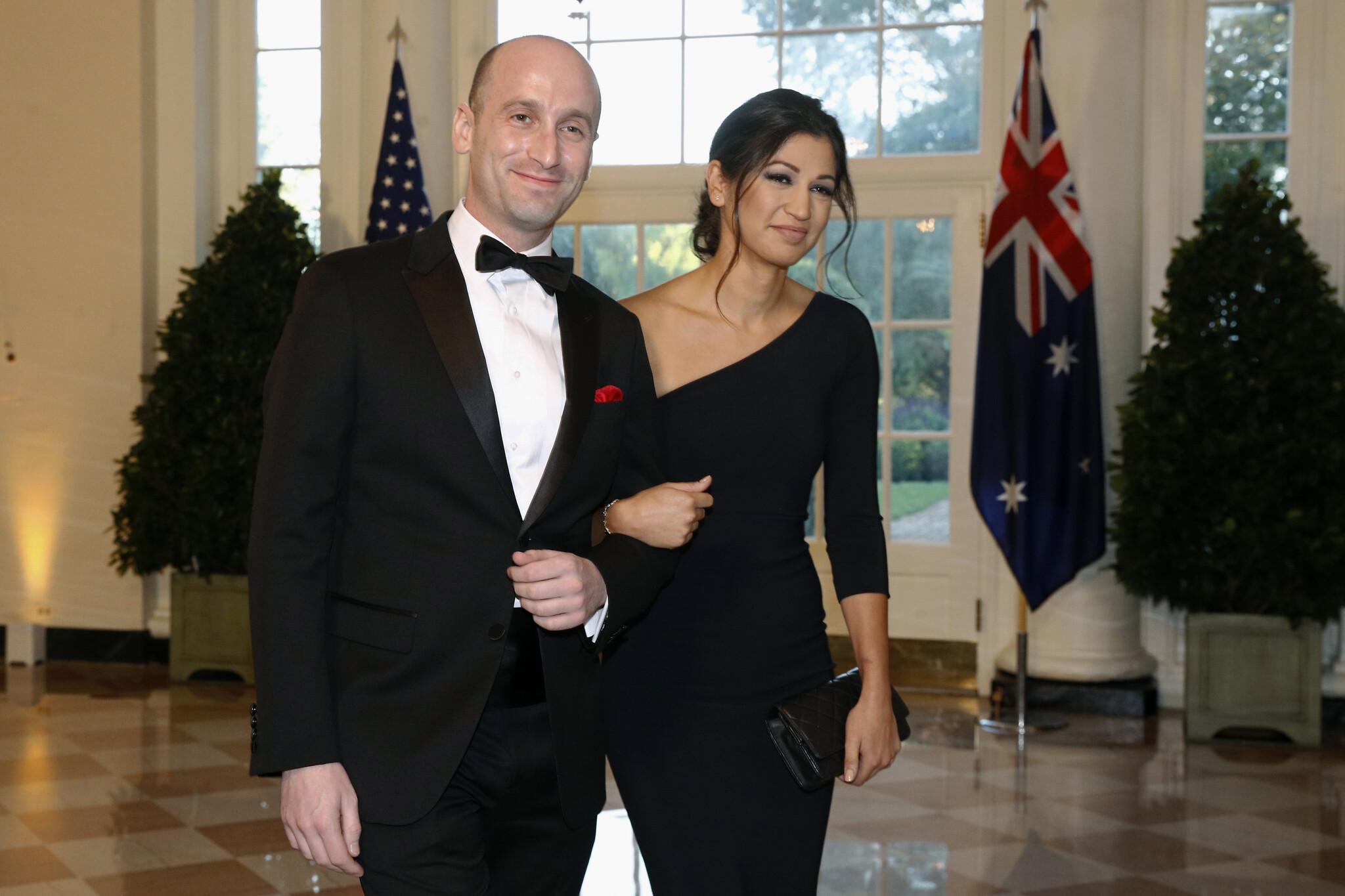 Donald Trump Attends Stephen Miller and Katie Waldman Wedding at Trump Hotel