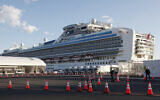 The quarantined cruise ship Diamond Princess anchored at the Yokohama Port in Yokohama, near Tokyo, February 18, 2020. (Koji Sasahara/AP)