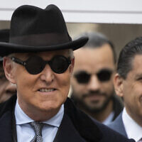 Roger Stone arrives for his sentencing at federal court in Washington, February 20, 2020. (AP Photo/Manuel Balce Ceneta)