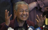 Malaysian Prime Minister Mahathir Mohamad, during a press conference in Putrajaya, Malaysia, February 22, 2020 (AP Photo/Vincent Thian)